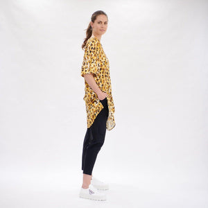 Layering Dress in Liquorice Leopard By Mela Purdie F954 3857 - Weekends on 2nd Ave