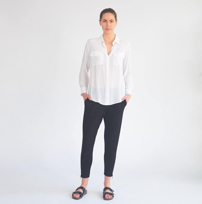 MELA PURDIE Soft Pocket Shirt - French Navy - Weekends on 2nd Ave