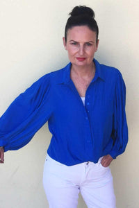 Roule Blouse in Ozone by Mela Purdie - Weekends on 2nd Ave