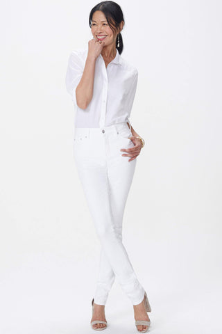 Marilyn Straight Jean in Optic White by NYDJ