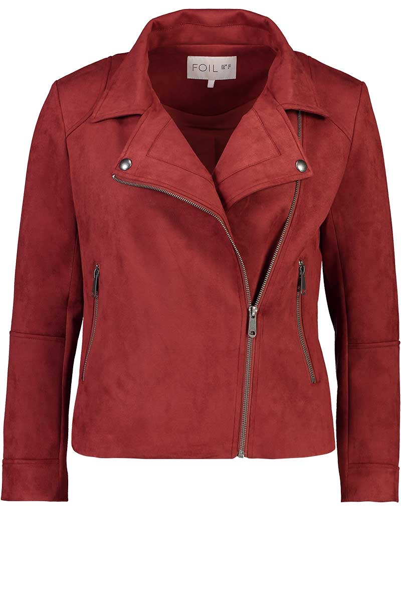 Per Suede Me Jacket In Masala by Foil Clothing