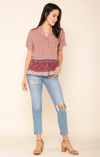 Raga Kelly Button-Up Top