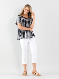 Marco Polo Sea Stripe Shirt - Navy Stripe