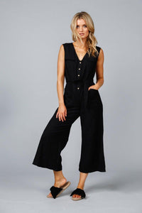 Riviera Pantsuit in Black Flex by Shanty
