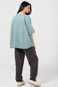 Scout Top SH2122 by Shanty Artic Blue and Espresso