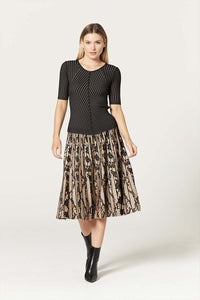 Snake Metallic Skirt by Cable