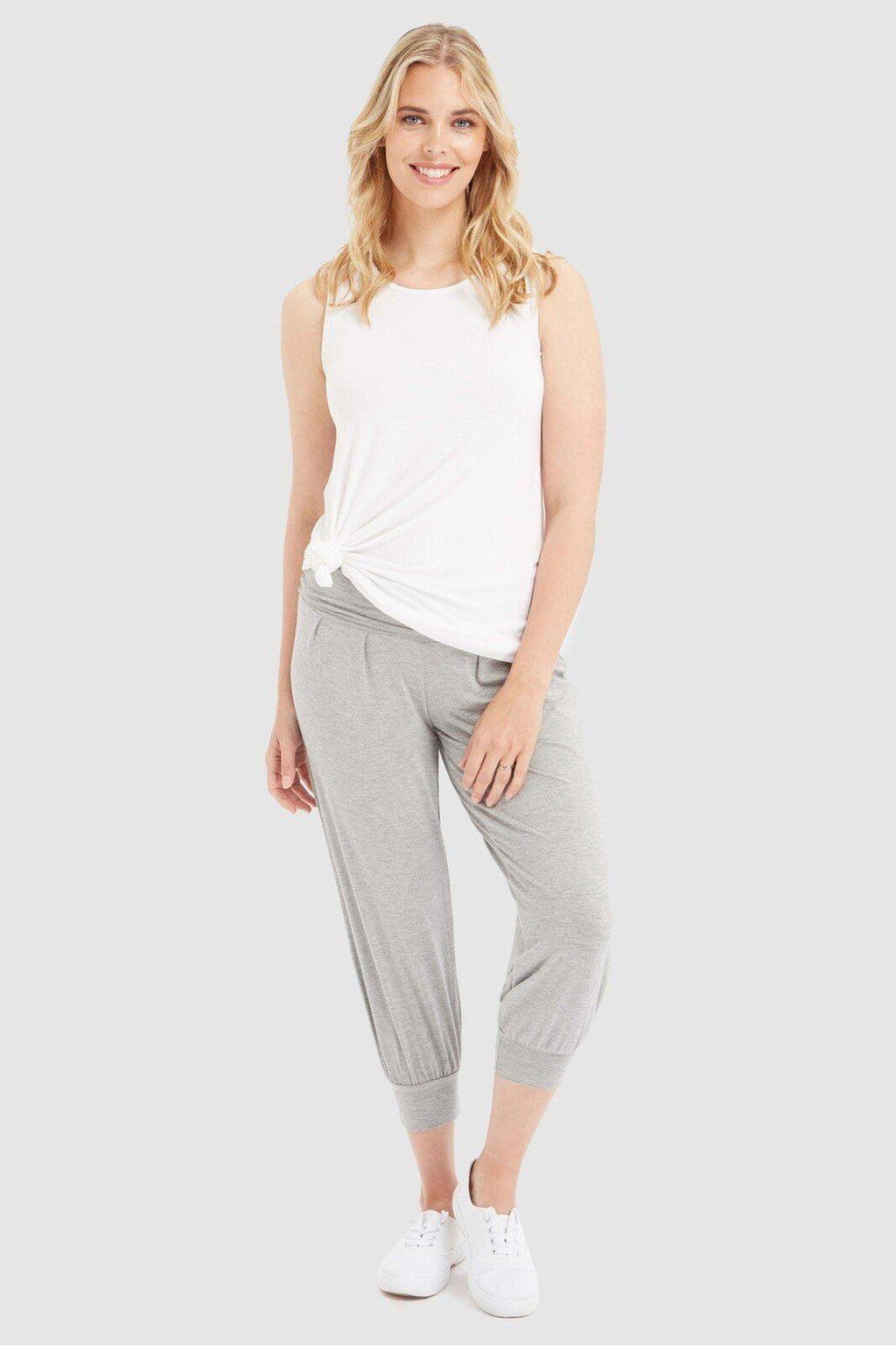 Summer Slouch Pant - Grey Marle - Bamboo Body | Buy Online at Weekends