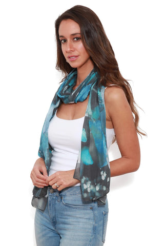 The Artists Label Blue Herbarium Scarf by Thodor Suhan | Buy Online at Weekends
