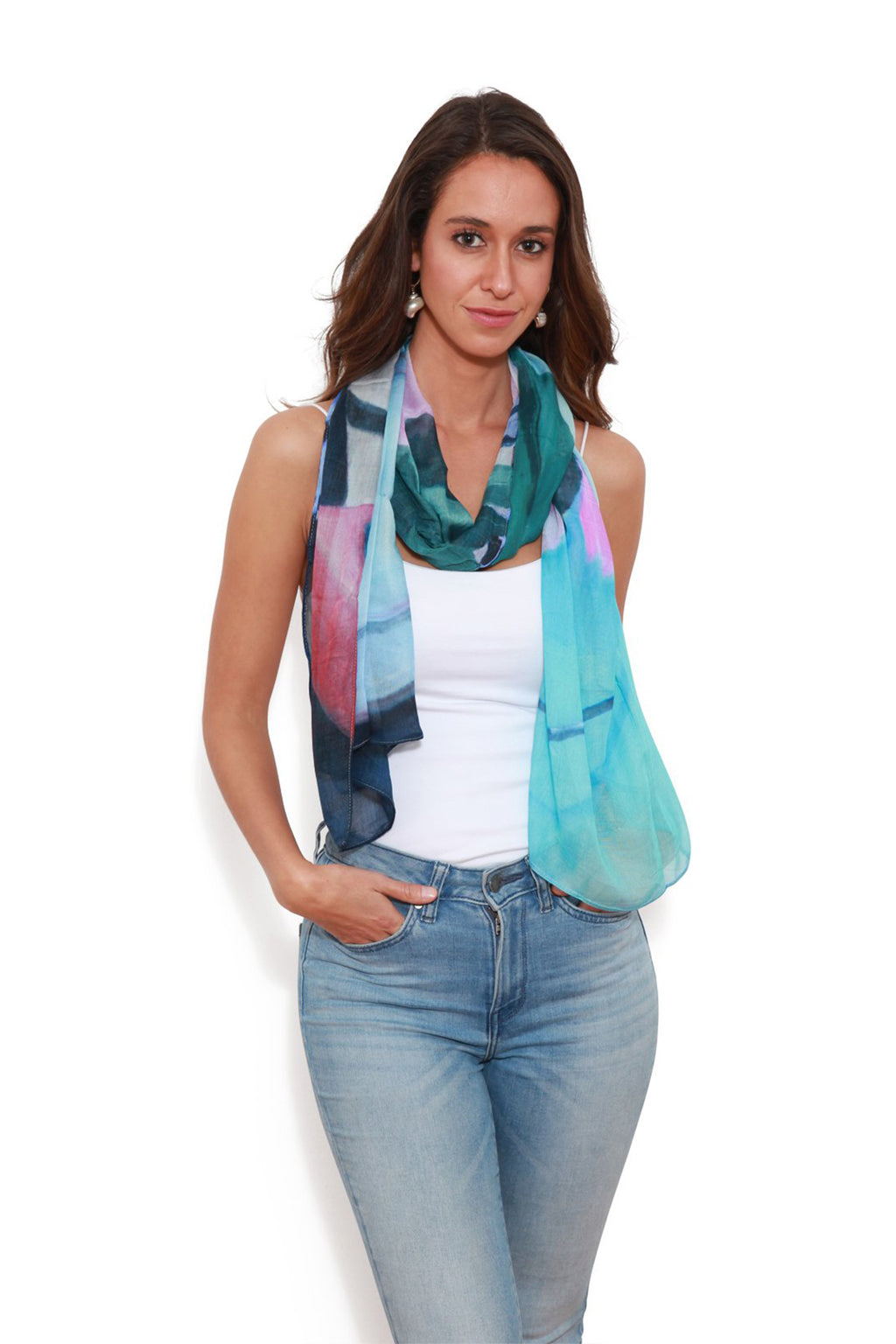 The Artists Label Vino Scarf by Melanie Vugich | Buy Online at Weekends