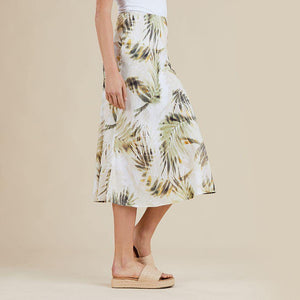Palm Print Skirt by Threadz - Weekends on 2nd Ave