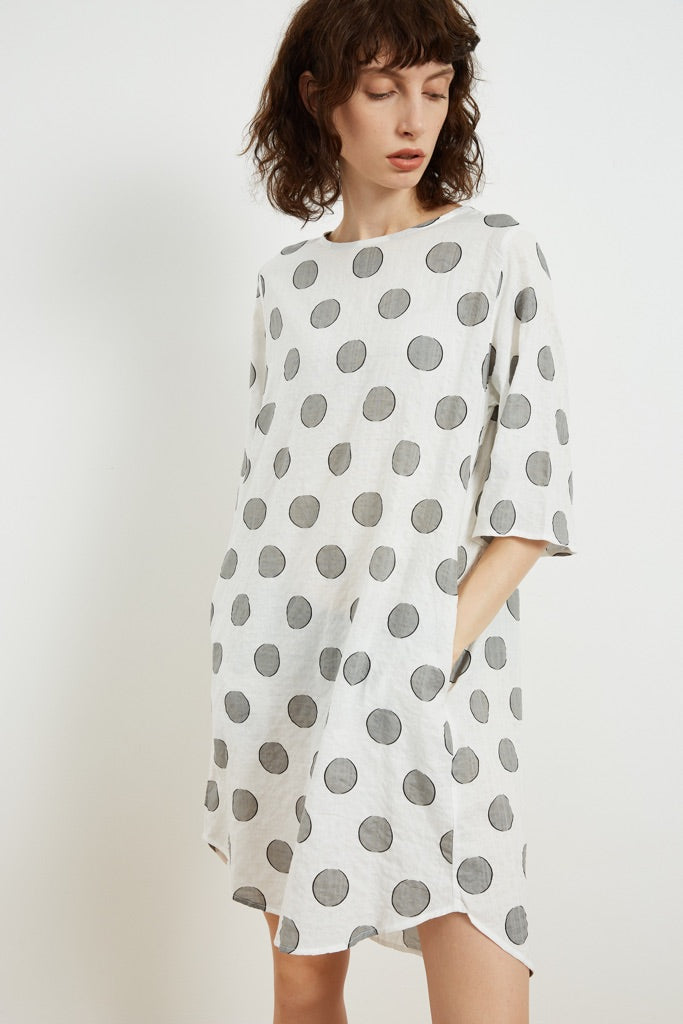 Tirelli Simple Printed Tunic - White Dot