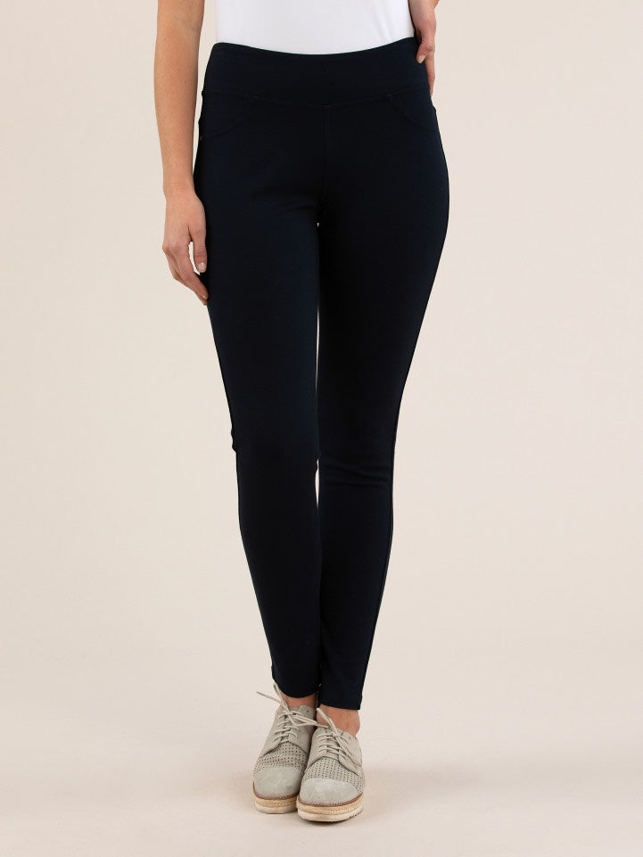 Yarra Trail Ponti Jegging - Navy | Buy Online at Weekends