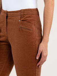 Yarra Trail Slimline Cord Pant - Toffee | Buy Online at Weekends