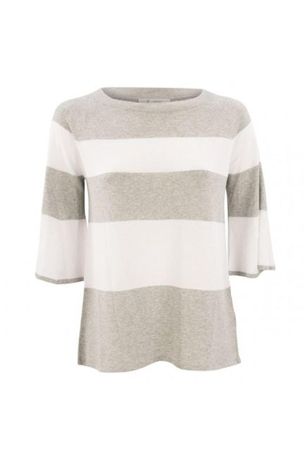 Breiter Ringel Pullover in Flint by Monari Melt 403687MNR-Monari-Weekends
