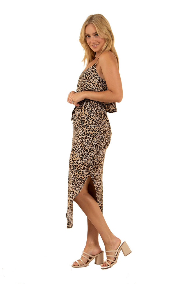 Caroline Morgan Animal Print Dress D502826-Caroline Morgan-Weekends