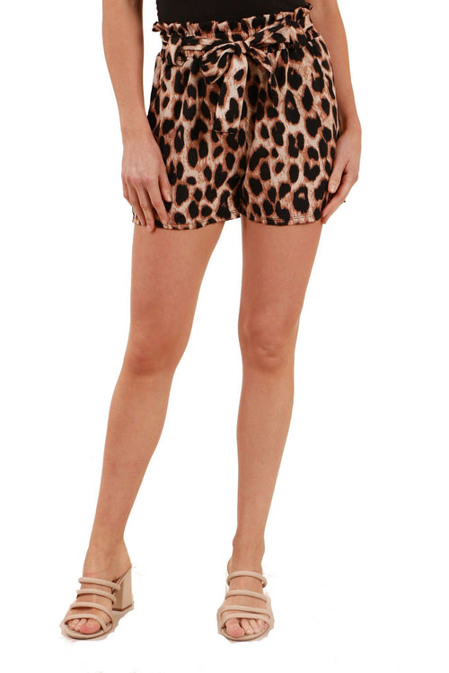 Caroline Morgan Animal Print Short SH726880-Caroline Morgan-Weekends