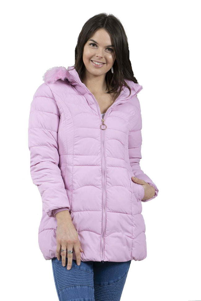 Caroline Morgan Fur Trim Puffa Coat CO727256-Caroline Morgan-Weekends
