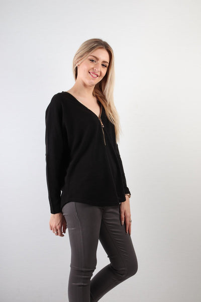 Caroline Morgan Zipper Top T68814-Caroline Morgan-Weekends