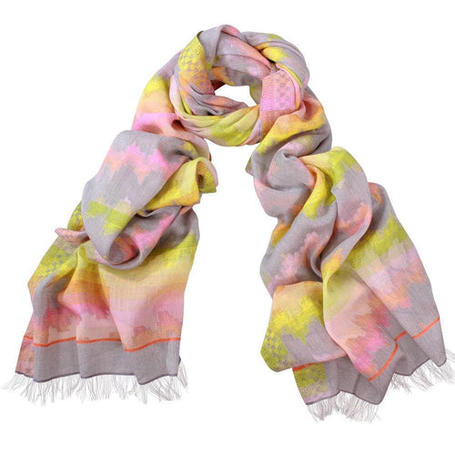 DLUX Yvette Bright Cotton Jacquard Scarf 93115-DLUX-Weekends