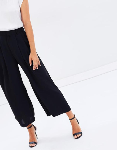 Faye Black Label Republic Flared Culotte in Onyx 942051-27-Faye Black Label-Weekends