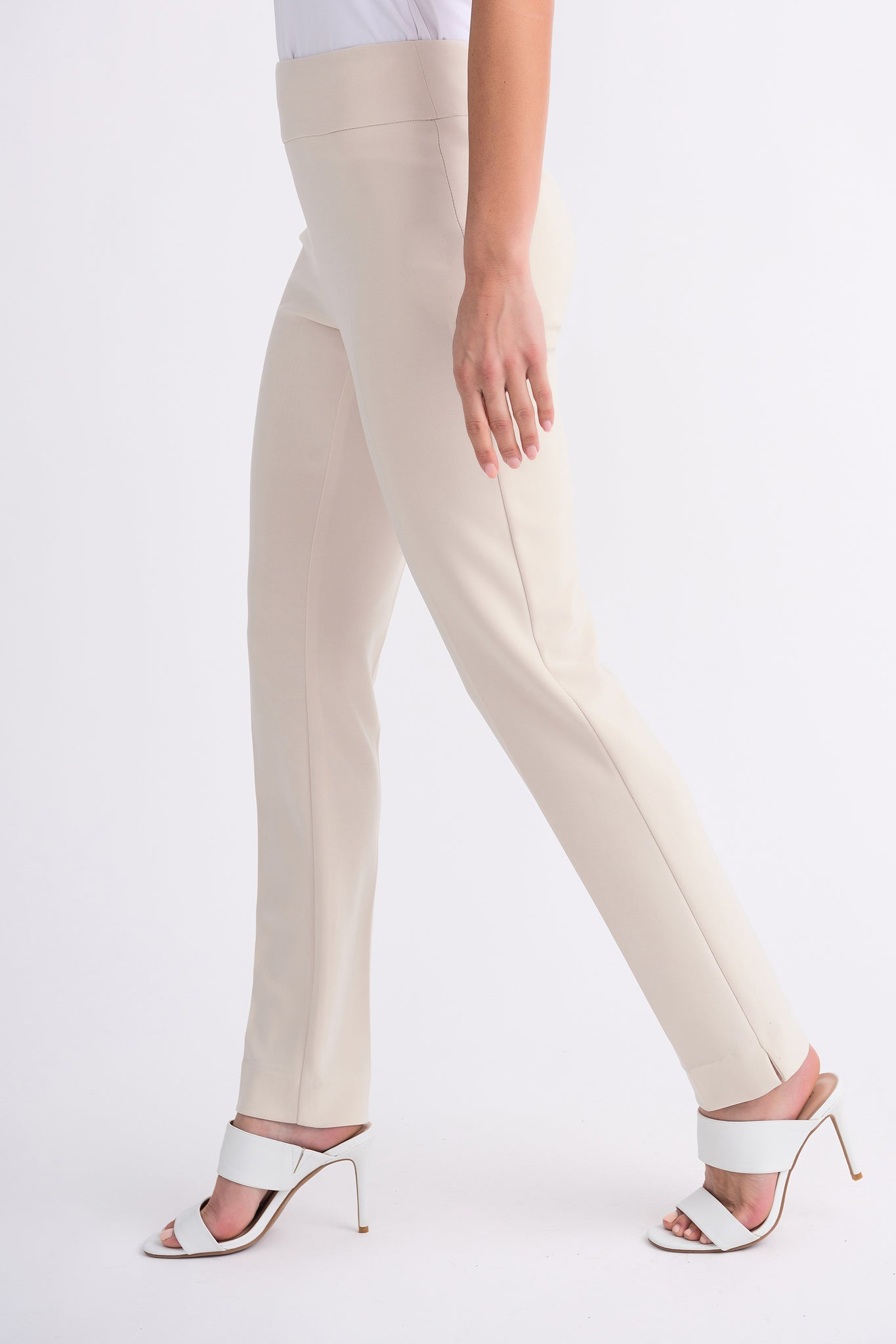 Joseph Ribkoff Contour Slim Fit Pant - Champagne | Buy Online at Weekends