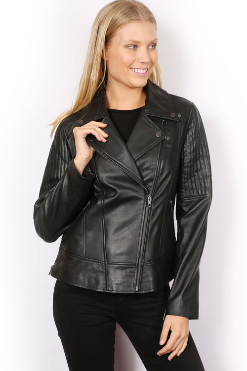 Kesta London Leather Biker Jacket P221123-Sabena-Weekends