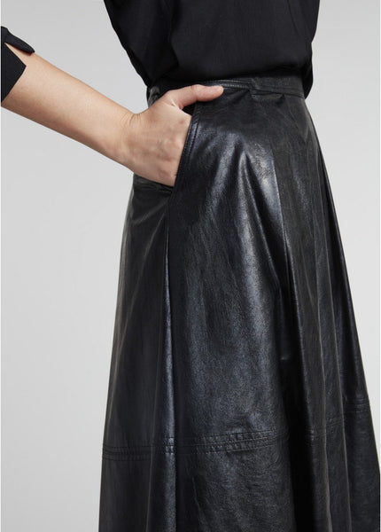 Lauren Vidal Fake Leather Skirt JH8054-Lauren Vidal-Weekends