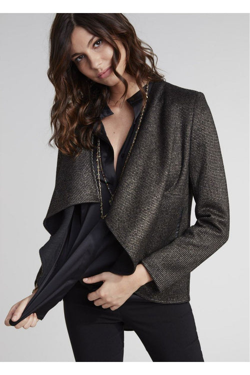Lauren Vidal Golden Iridescent Jacquard Jacket VH8030-Lauren Vidal-Weekends