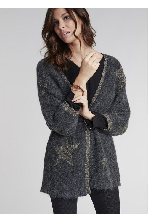 Lauren Vidal Mohair Jacket with Stars Pattern VH8181-Lauren Vidal-Weekends