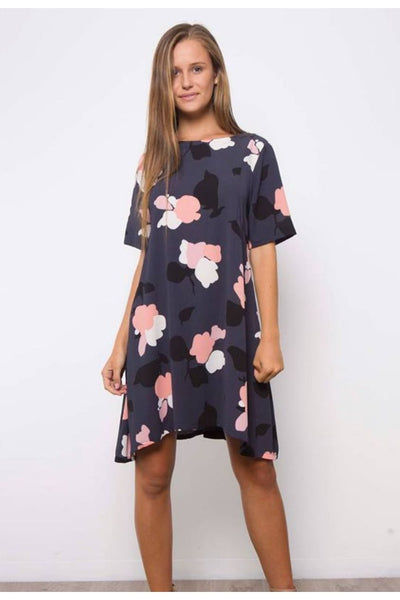 Leoni S/S Baby Doll Floral Dress D00395LE-Leoni-Weekends