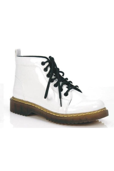 Los Cabos Maui Stylish White Patent Rain Boots-LOS CABOS-Weekends