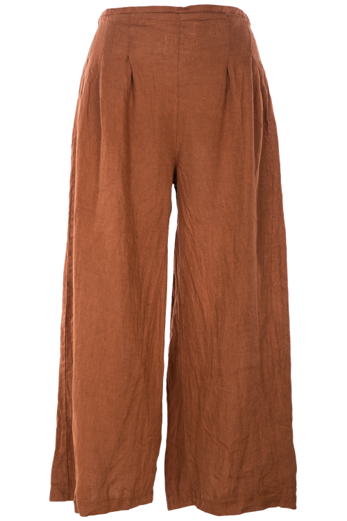 M Made in Italy - Woven Caramel Linen Pant 11/30135-M Made in Italy-Weekends