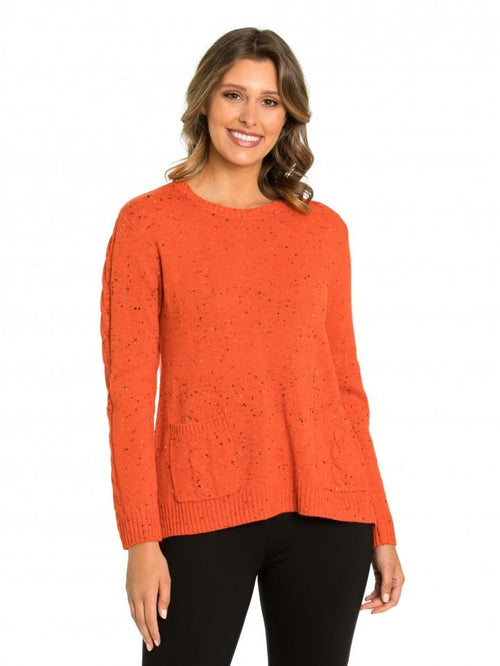Marco Polo Flecked Sweater YTMW93078-Marco Polo-Weekends
