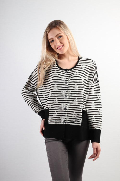 Marco Polo Long Sleeve Textured Cardigan YTMW83015-Marco Polo-Weekends