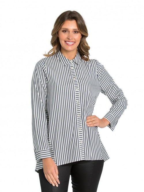 Marco Polo Pinstripe Shirt YTMW94180-Marco Polo-Weekends