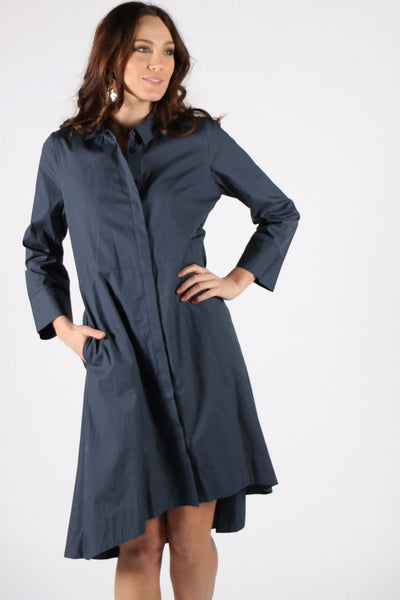 Marco Polo Relaxed Shirt Dress YTMS99030-Marco Polo-Weekends