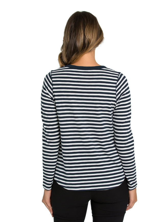 Marco Polo Stripe Tee YTMW97087-Marco Polo-Weekends