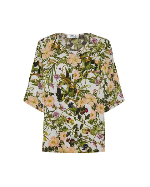 MELA PURDIE Plaza Top Passion Vine Print Satin F869 2250-Mela Purdie-Weekends