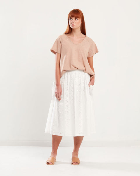 Privilege Pocket Side Midi Skirt 7249-309-Privilege-Weekends