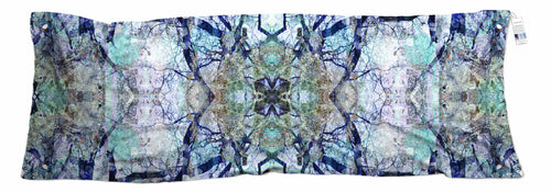 The Artists Label Blue Forest Wool Scarf by Milka Rodic APR2027-The Artists Label-Weekends