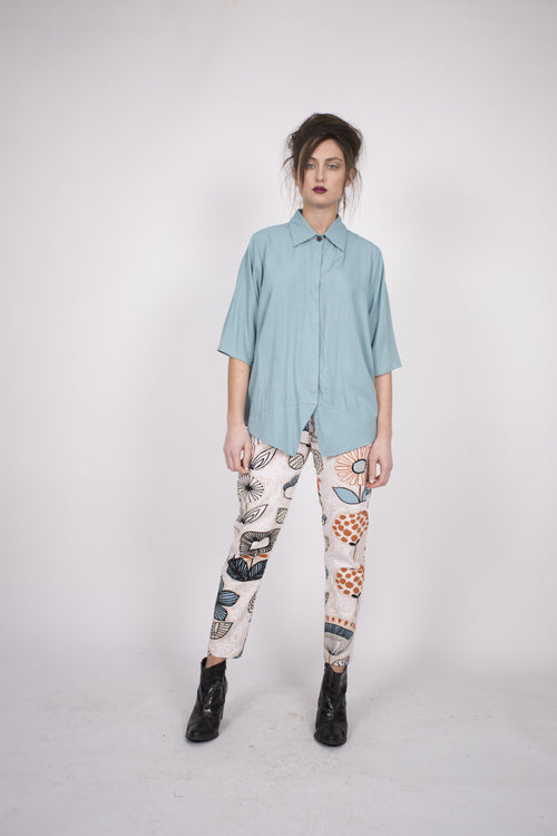 Upstream by Megan Salmon Flower Pots Stovepipe Pant U9505-Upstream by Megan Salmon-Weekends