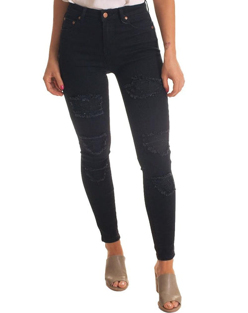 Wakee Black Ripped Jean-Wakee-Weekends