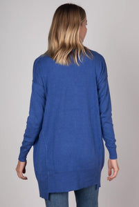 Essential Cardigan in Chambray by Zaket & Plover - Weekends on 2nd Ave - Z & P