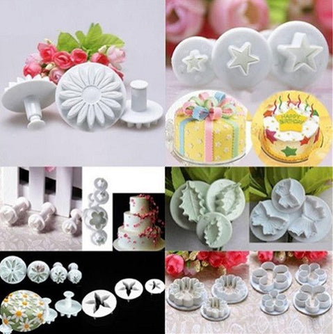 46Pcs Fondant Cake Decorating Tools