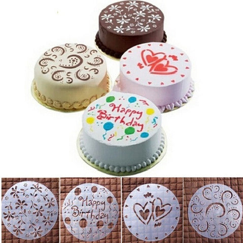 4Pcs Round Stencil Decorating Tools