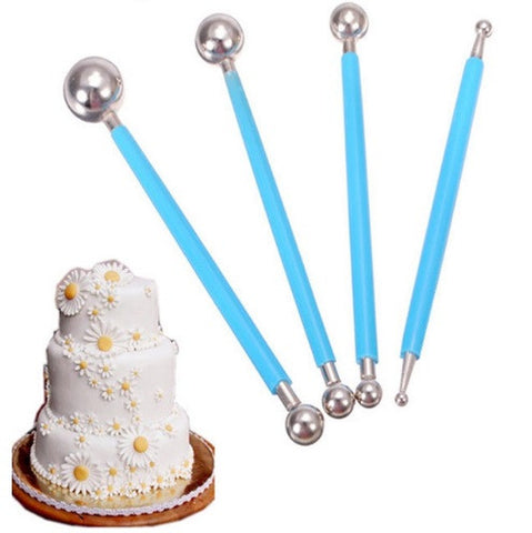 4Pcs Double End Metal Ball Decorating Pen