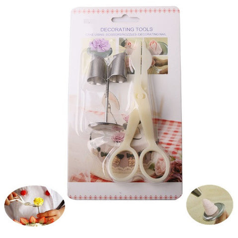 4Pcs Cream Flower Transfer Tool Set