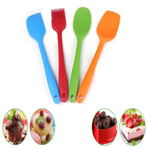 4Pcs Set Baking Spatula And Silicone Brush