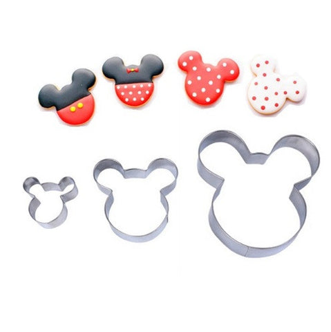 3Pcs Mouse Cookie Cutters