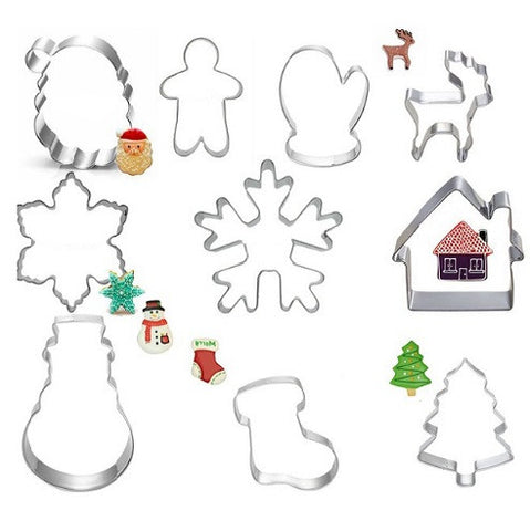 10Pcs Christmas Set Cookie Cutters